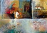 Traumlandschaft • Acryl auf Leinwand • 140 x 100 cm • 2010