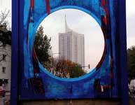 Brigitte Spanbloechel-Glass – Wien – windows – Einblicke und Durchblicke – Kunstprojekt im öffentlichen Raum, Donaustadt, Donaupark