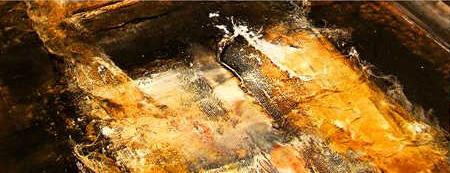 Brigitte Spanblöchel-Glass • Wien • Malerin • Bilder • Gemälde • Arbeitstechniken • Acryl mit Gewebefragmenten auf Leinwand